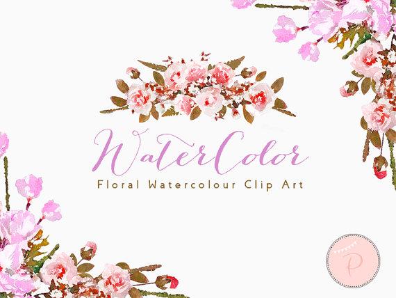 Boho clipart floral. Watercolor clip art cliparts