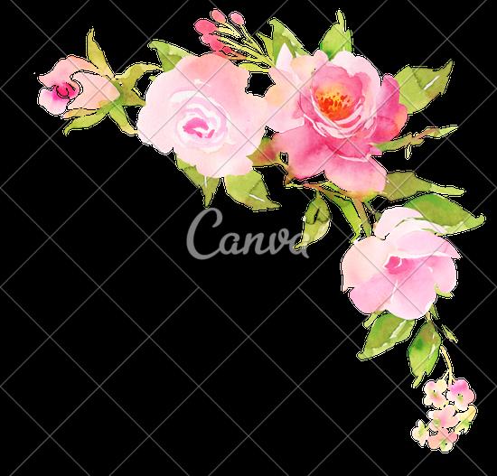 Boho clipart floral. Artificial flower rose design