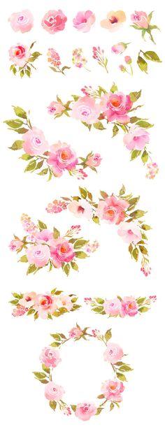 Boho clipart flower.  best watercolor clip