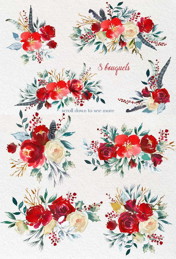 Boho clipart flower. Scandi red flowers png