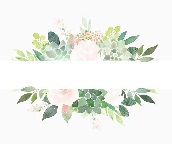 Succulents frames succulent border. Boho clipart frame
