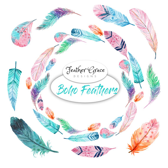 Boho clipart frame. Watercolor arrows feathers wedding