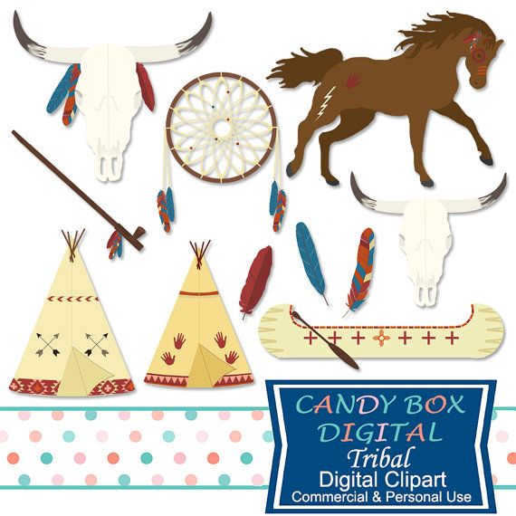 Tribal indian and southwestern. Boho clipart horse