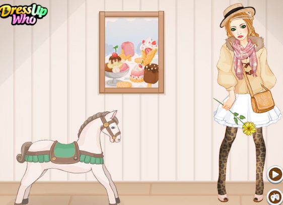 Dress up games play. Boho clipart horse