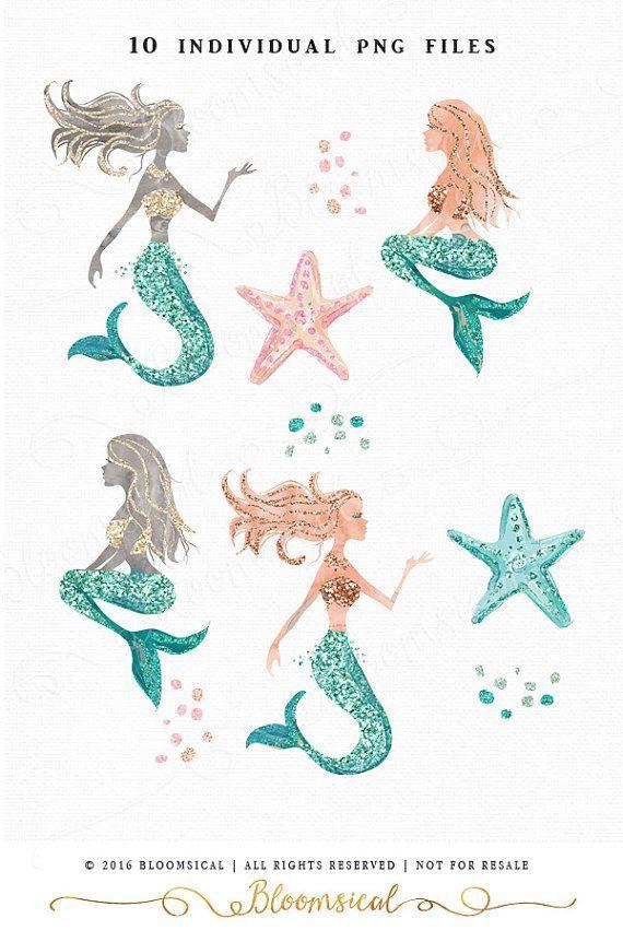 Boho clipart mermaid. Glitter clip art glam