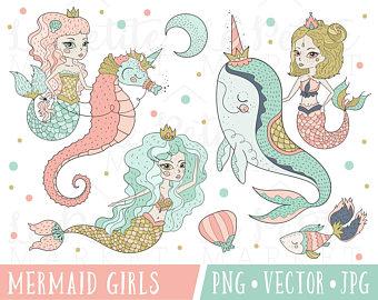 Boho clipart mermaid. Cute safari animals tribal