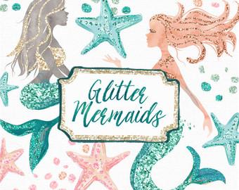 Boho clipart mermaid. Glam wanderer clip art