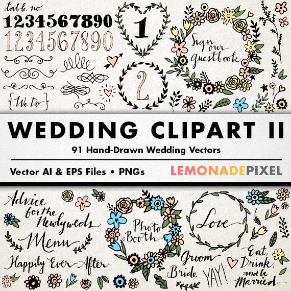 Wedding ii floral clip. Boho clipart mountain
