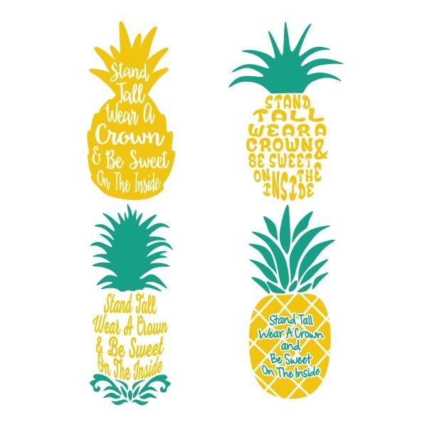 Boho clipart pineapple. Cuttable design cut file
