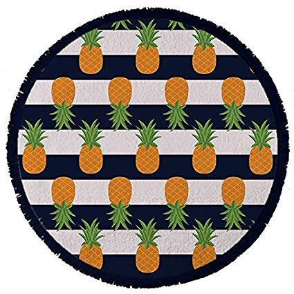 Boho clipart pineapple. Amazon com round towel