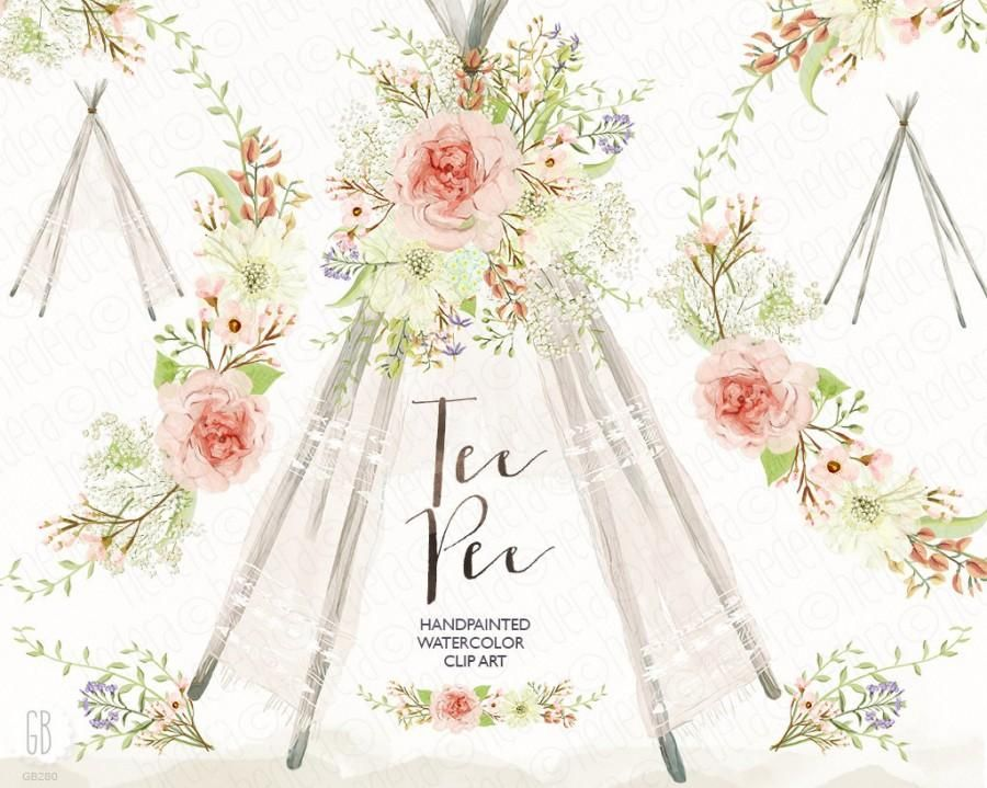 Image result for computer. Boho clipart teepee