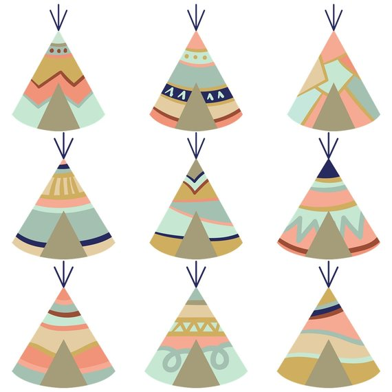 Boho clipart tent. Set tipi tents feathers