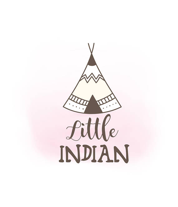 Little indian svg baby. Boho clipart tent