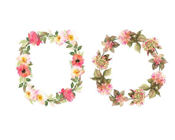 Boho clipart transparent. Bohemian wreaths flower watercolor