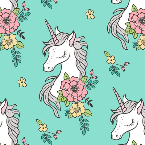 Boho clipart unicorn. Dreamy vintage flowers on