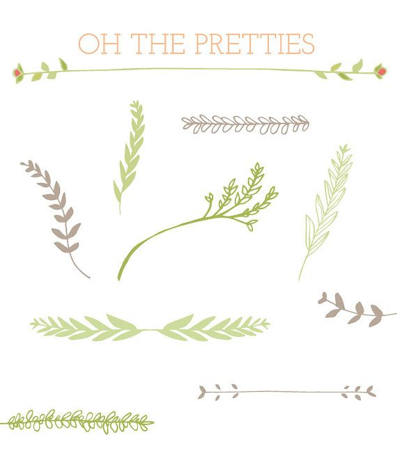 best vector images. Boho clipart vine