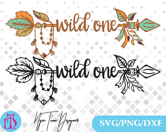 Svg png dxf for. Boho clipart wild one