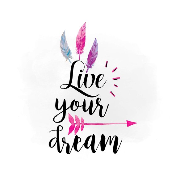 Live your dream svg. Boho clipart wild one