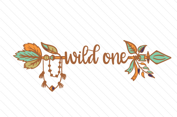 Boho clipart wild one. Svg cut file by