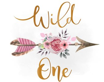 Boho clipart wild one. Watercolor arrow etsy svg