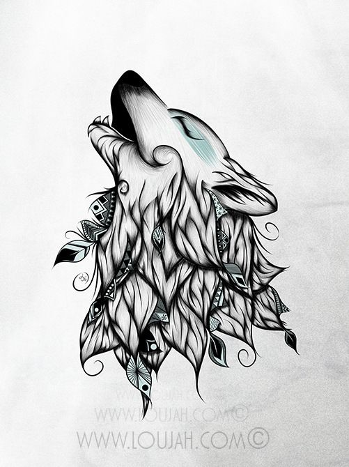 best my illustrations. Boho clipart wolf