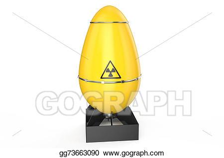 Bomb clipart air. Stock illustration atomic yellow