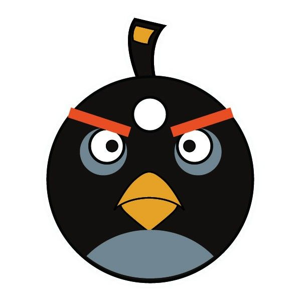 Bomb clipart angry. Sticker birds game crafts