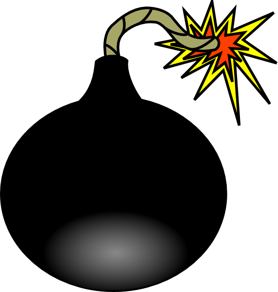 Moving clipart explosion. Animated bomb
