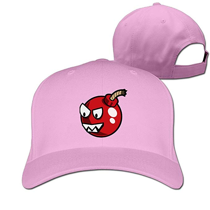 Unisex angry cherry adjustable. Bomb clipart baseball
