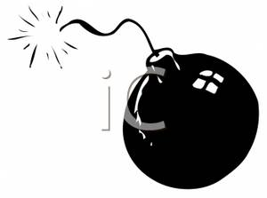 Bomb clipart black and white. A picture