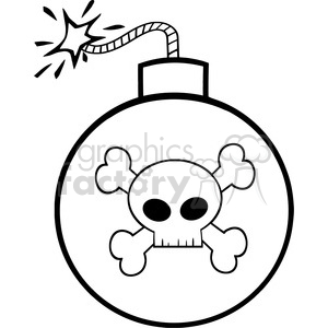 Royalty free rf illustration. Bomb clipart black and white