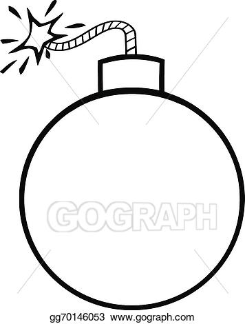 Eps illustration cartoon vector. Bomb clipart black and white