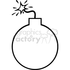 Cartoon royalty free . Bomb clipart black and white