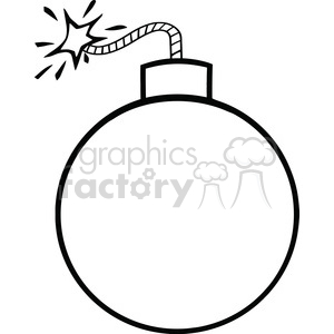 Bomb clipart black and white. Royalty free rf illustration