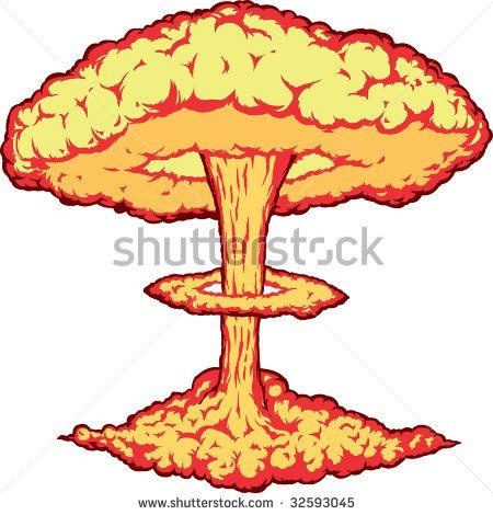 Image result for atom. Bomb clipart bomb blast
