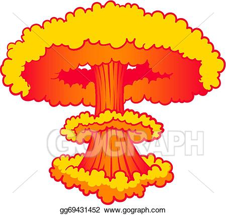 Bomb clipart bombing. Eps illustration nuke explosion