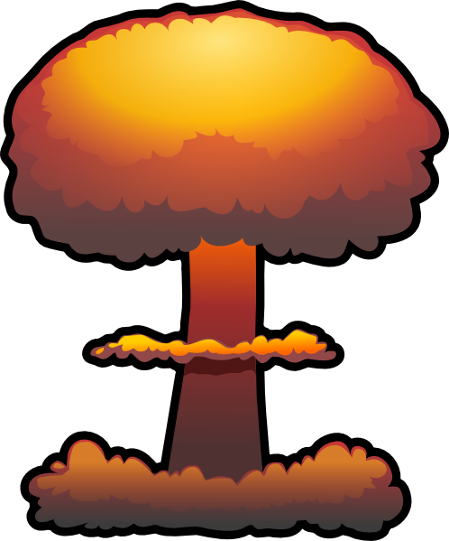 Bomb clipart bombing. Nuclear explosion transparent png