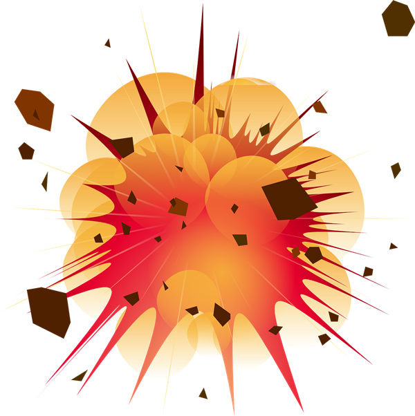 Bomb clipart bombing. Explosion clip art on