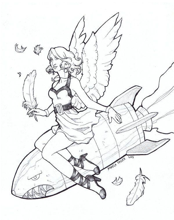 Bomb clipart bombshell. Angel pin up girl