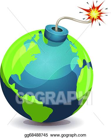 Vector art earth planet. Bomb clipart bombshell