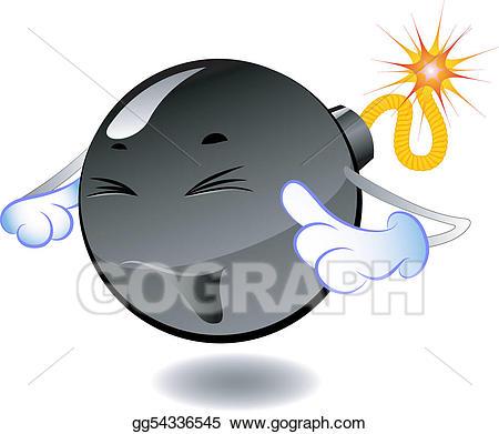 Bomb clipart carton. Vector art series of