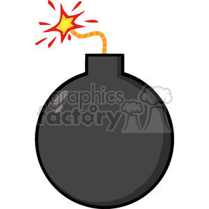 Lit cartoon royalty free. Bomb clipart carton
