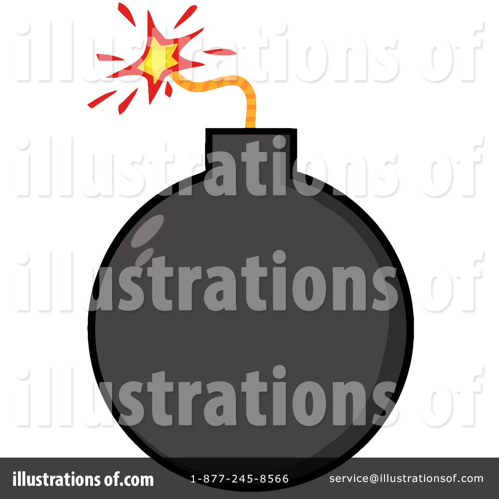 Illustration by hit toon. Bomb clipart carton