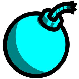 Bomb clipart catoon. Cartoon light blue cliparts