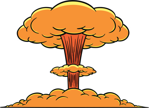 collection of nuclear. Bomb clipart catoon