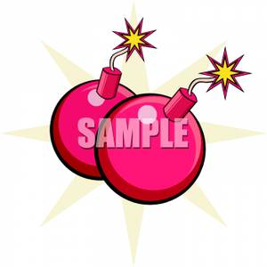 Bomb clipart cherry bomb. Two bombs royalty free