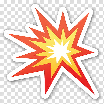 Bomb clipart clear background. Emoji sticker red and