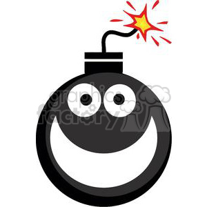 Royalty free emoticon vector. Bomb clipart clip art