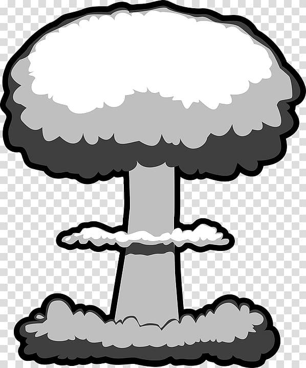 Nuclear explosion weapon mushroom. Bomb clipart cloud