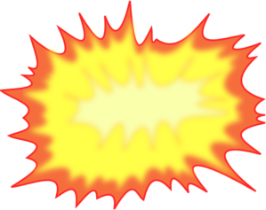 Bomb clipart cloud. Comic explosion clip art